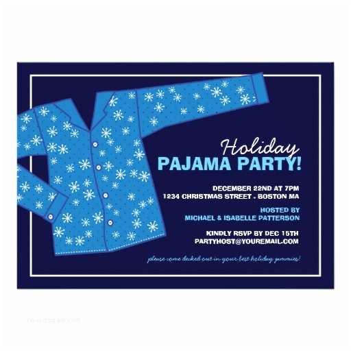 Christmas Pajama Party Invitations Christmas Holiday Pajama Party Invitation