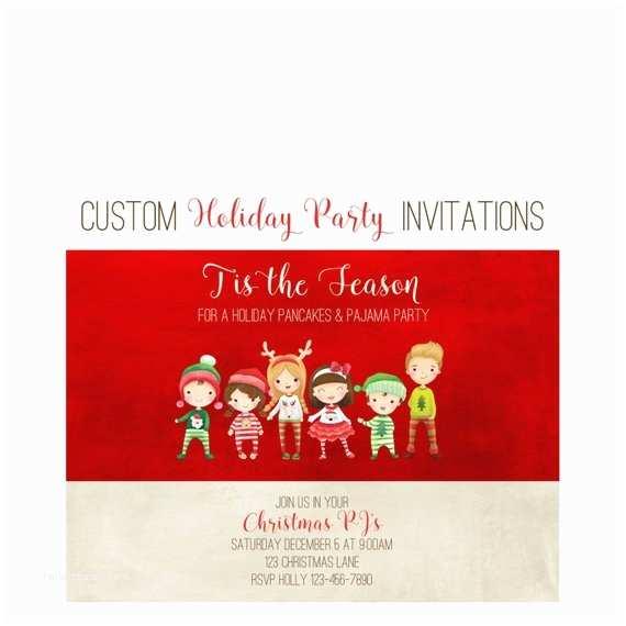 Christmas Pajama Party Invitations Christmas Pajama Party Invitations Breakfast Christmas
