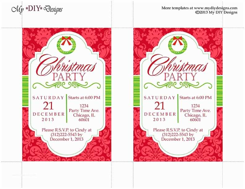 Christmas Party Invitation Template Christmas Invitation Template