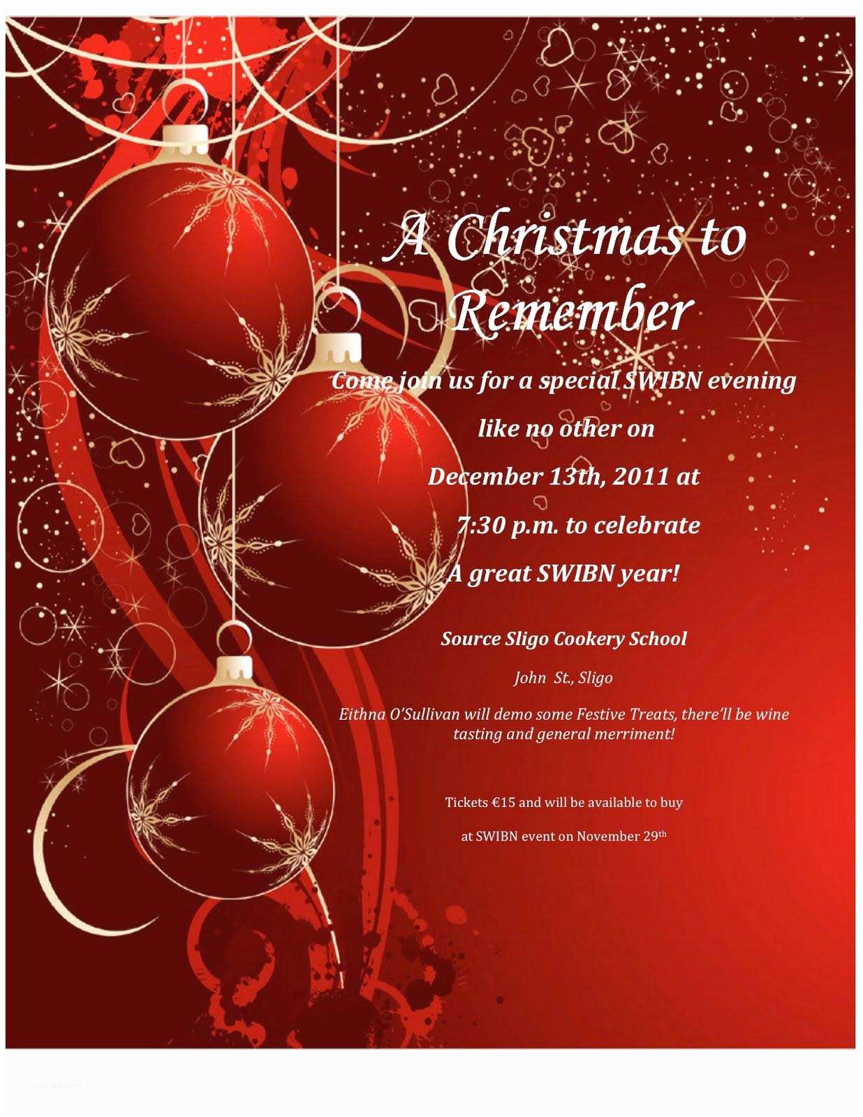 Christmas Party Invitation Template Christmas Party Invitation Wording