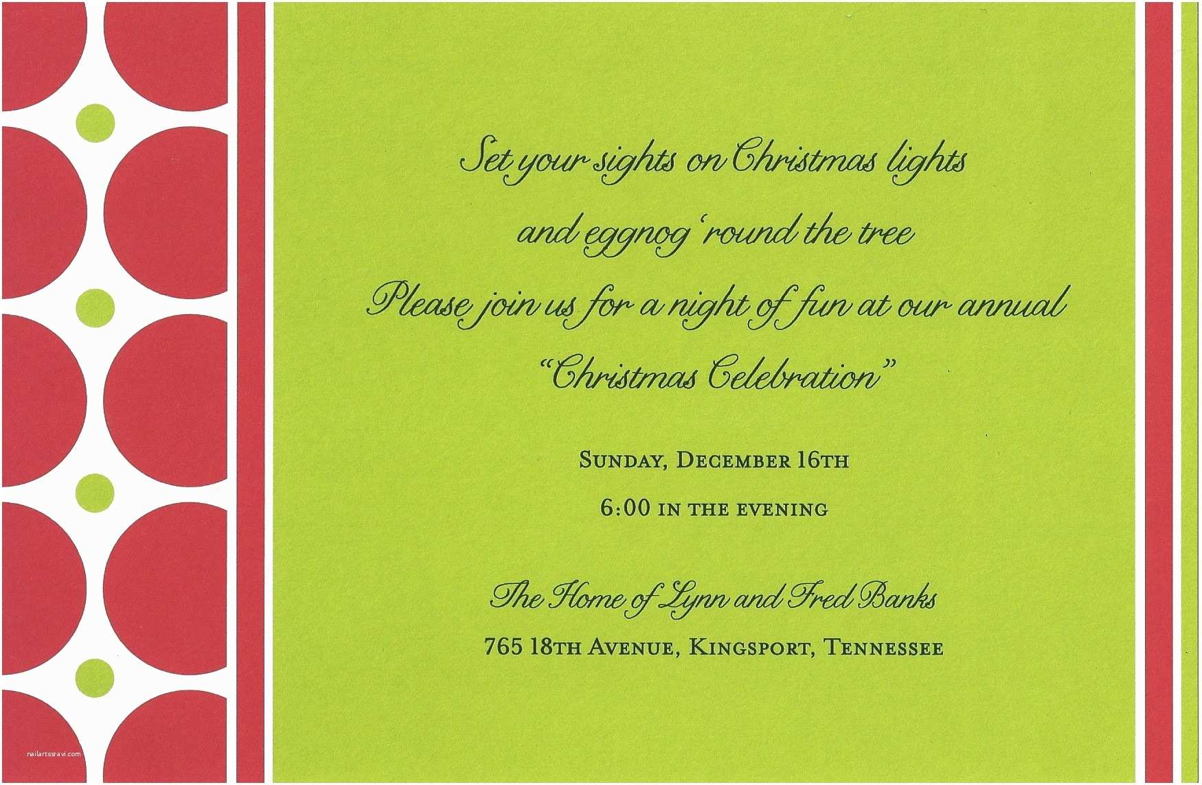 Christmas Party Invitation Wording Family Christmas Party Invitation Wording