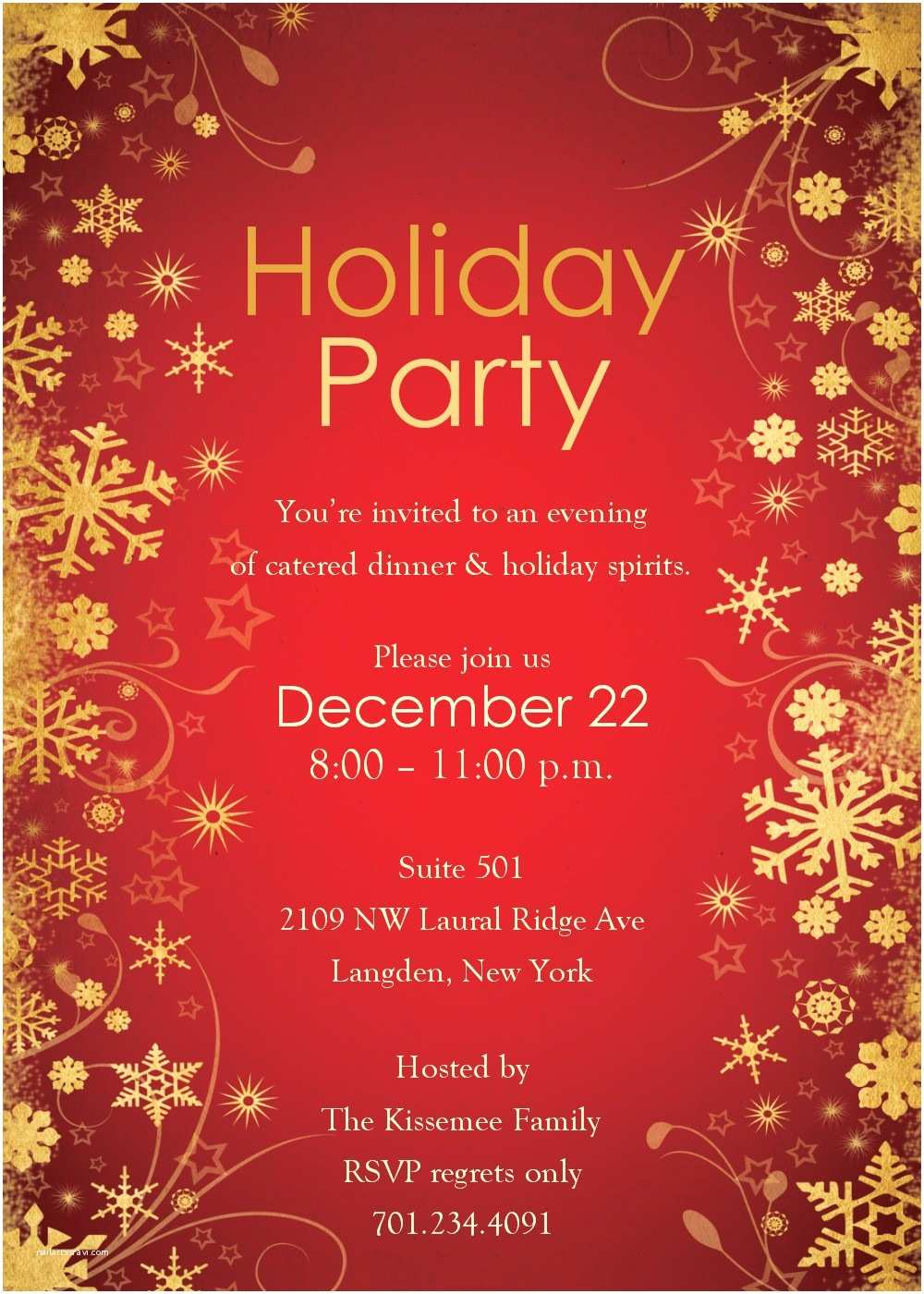 Christmas Party Invitation Wording Free Holiday Party Invitation Templates