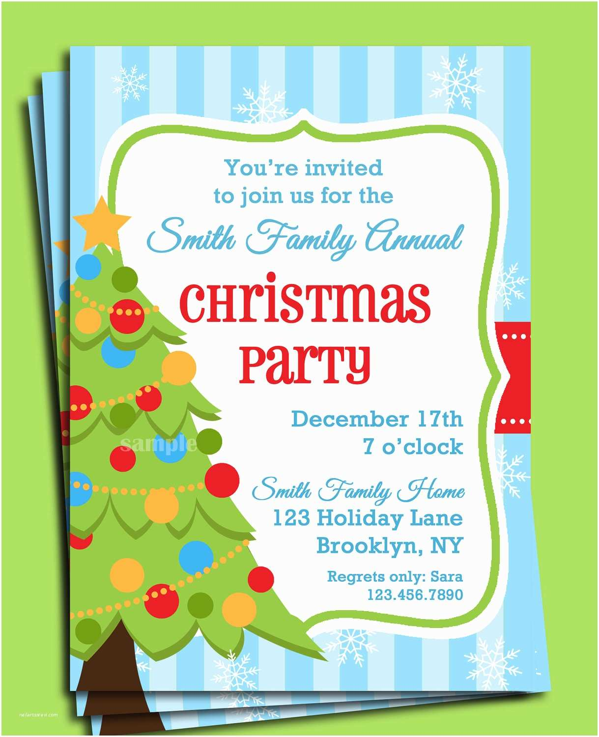 Christmas Party Invitations Christmas Party Invitation Printable Christmas Tree In Snow