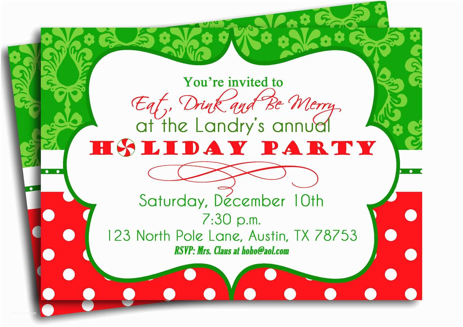 Christmas Party Invitations Christmas Party Invitation Printable Traditional Holiday