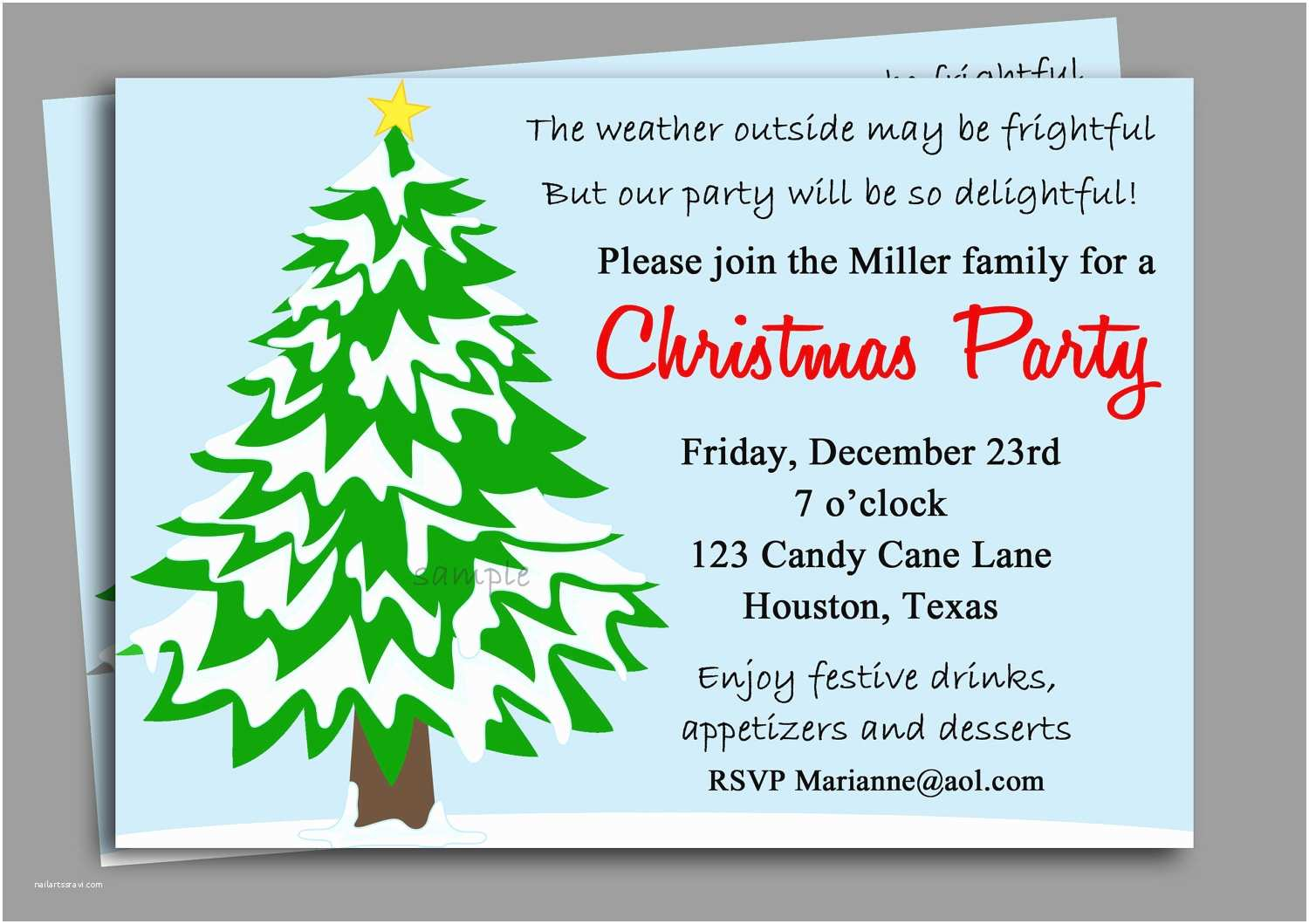 Christmas Party Invitations Christmas Party Invitation Printable Winter Wonderland