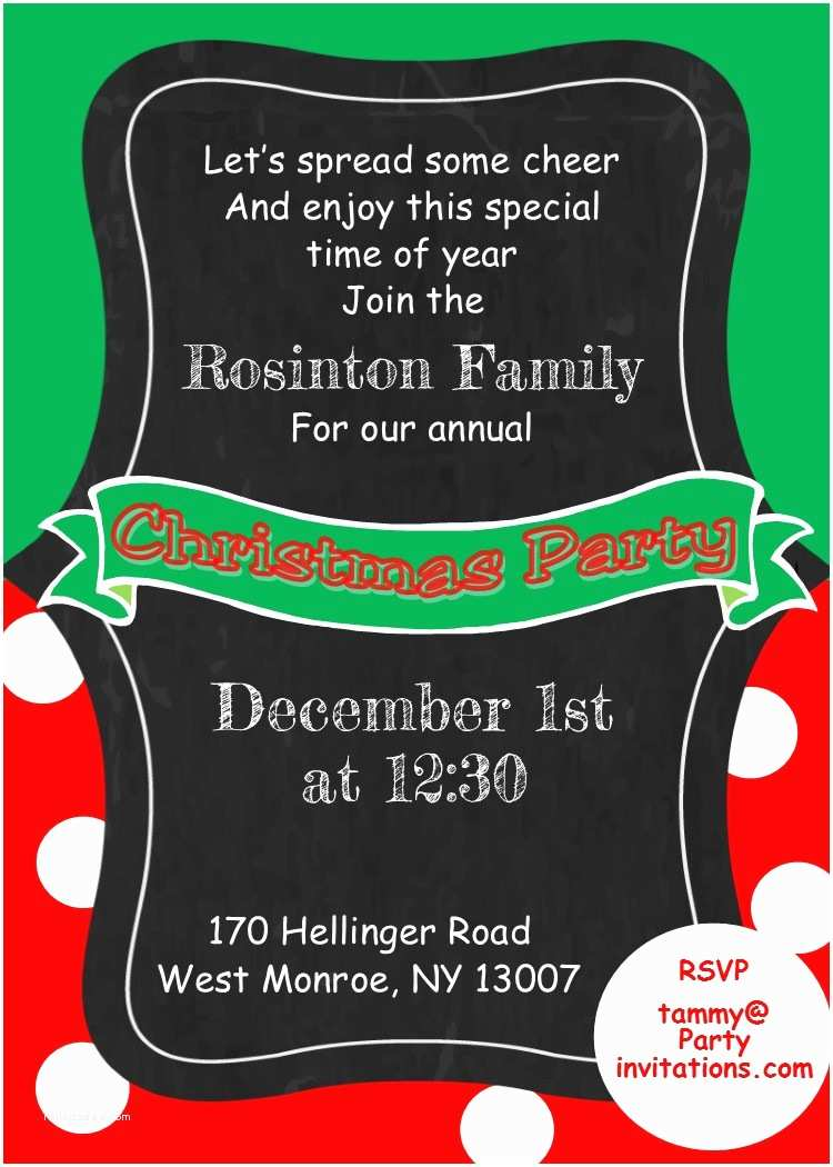 Christmas Party Invitations Kids and Family Christmas Party Invitations New for 2017