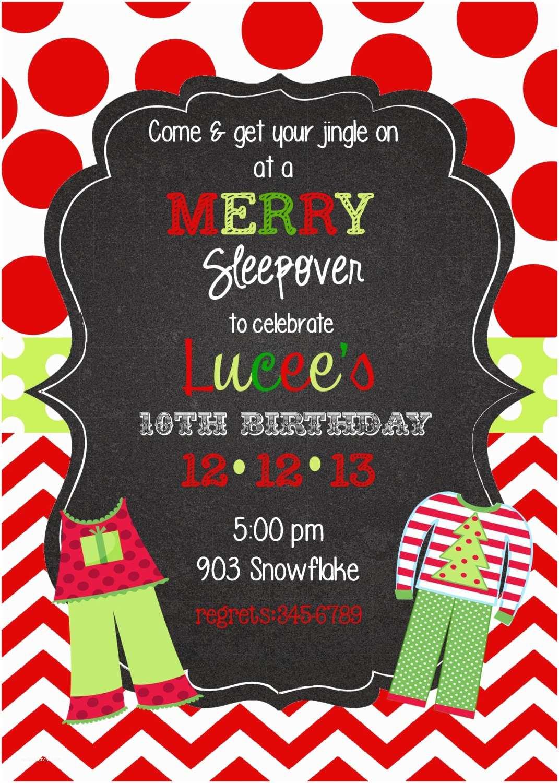 Christmas Pj Party Invitation 12 Christmas Pajama Party Invitations with Envelopes Pj