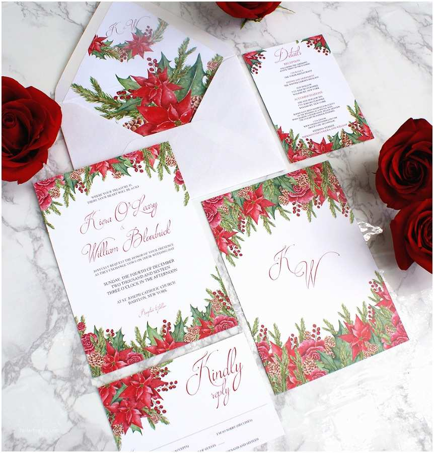 christmas themed wedding invitations 2