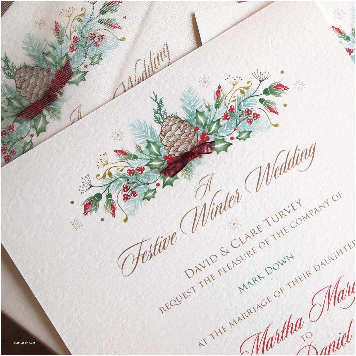 Christmas themed Wedding Invitations Christmas Wedding Invitations – Paper Pleasures Wedding