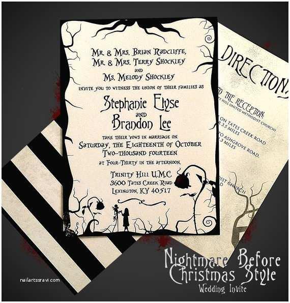 Christmas themed Wedding Invitations Nightmare before Christmas themed Wedding by Digitalwizardry