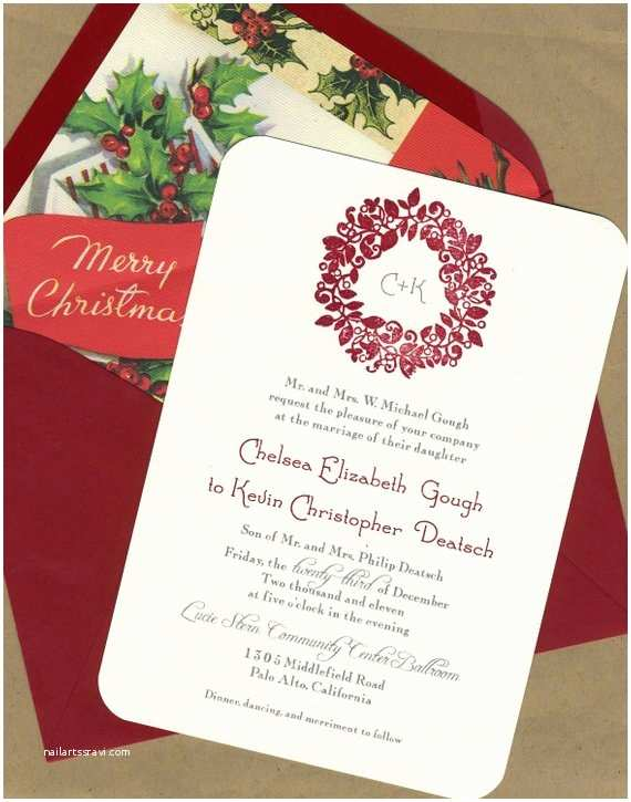 Christmas themed Wedding Invitations Unavailable Listing On Etsy