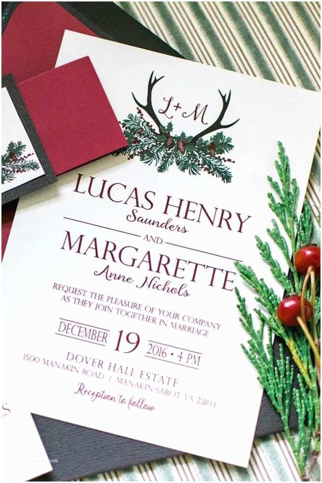 Christmas themed Wedding Invitations Wedding Invitation Templates Christmas Wedding Invitations