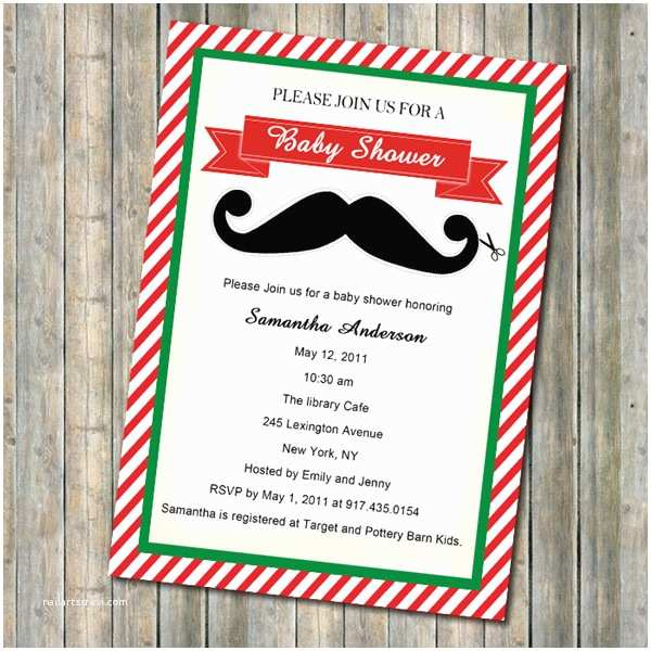 Christmas themed Wedding Shower Invitations Baby Shower theme