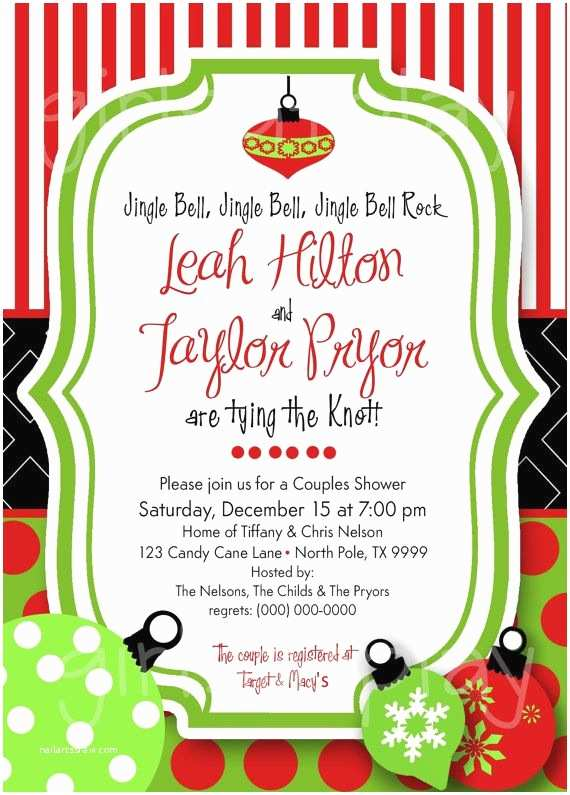 christmas themed wedding shower invitations best 25 open house invitation ideas on pinterest