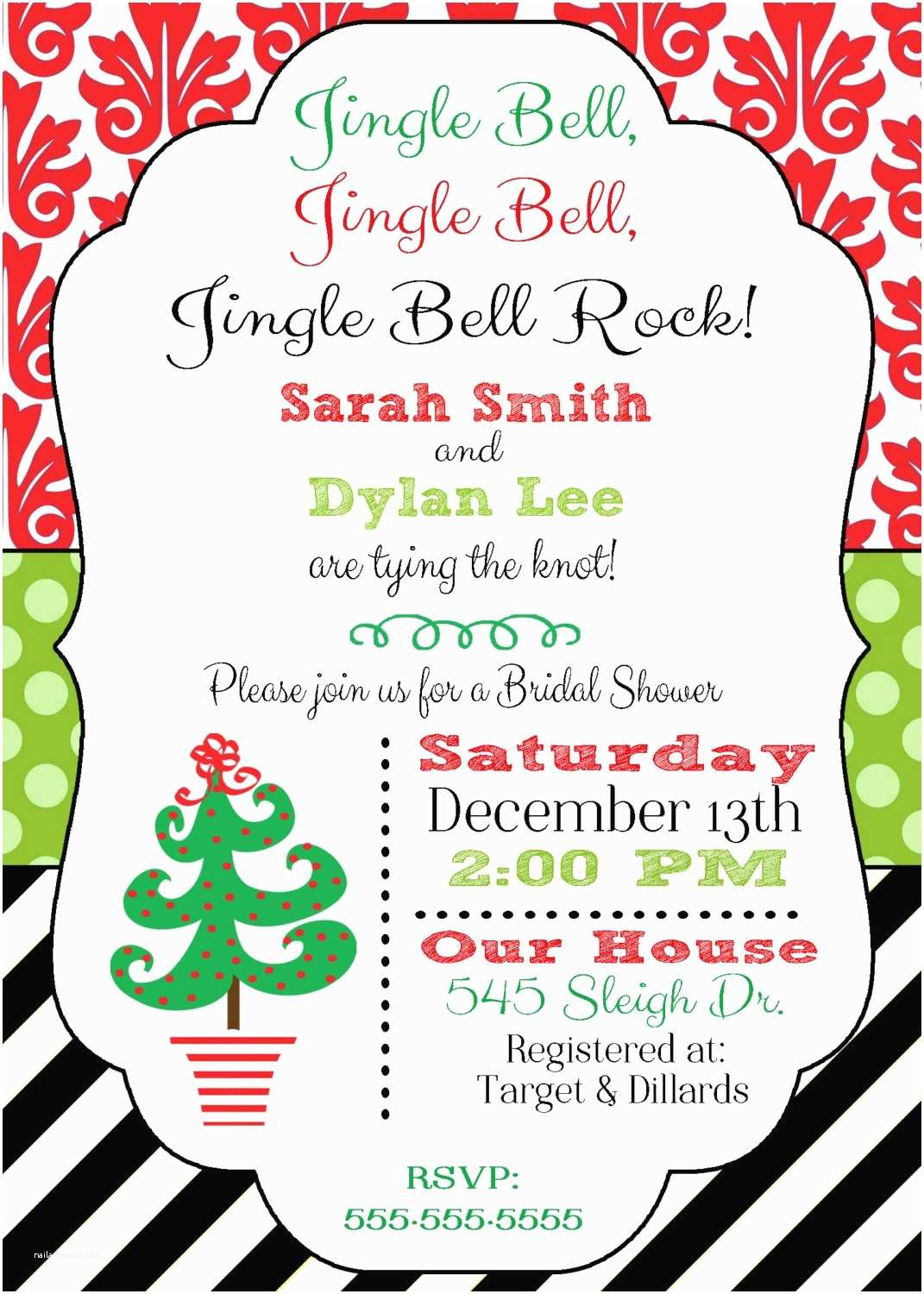 christmas themed wedding shower invitations christmas bridal shower invitation christmas wedding by