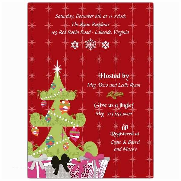 Christmas themed Wedding Shower Invitations Christmas Bride Bridal Shower Invitations