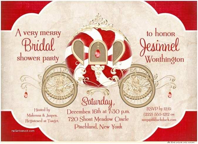 Christmas themed Wedding Shower Invitations Christmas Jewel Bride Princess Invitation Bridal Shower