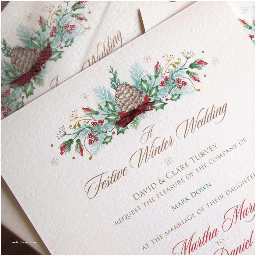 Christmas Wedding Invitations Christmas Wedding Invitations – Paper Pleasures Wedding