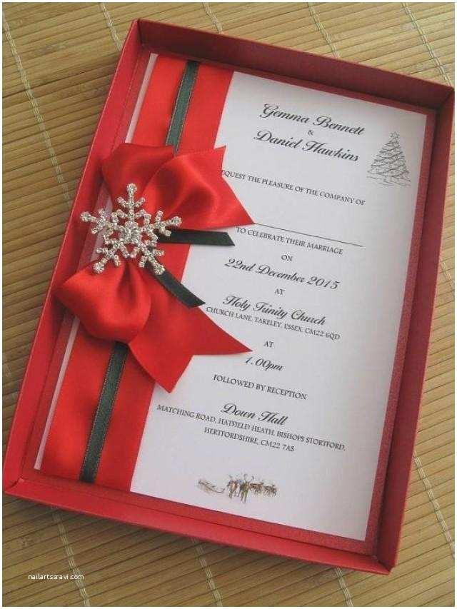Christmas Wedding Invitations Winter themed Wedding Invitations Boxed Weddbook