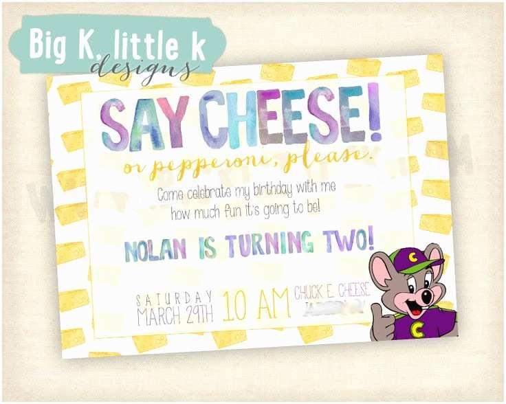 Chuck E Cheese Birthday Invitations Chuck E Cheese Birthday Invitation by Bigklittlekdesigns