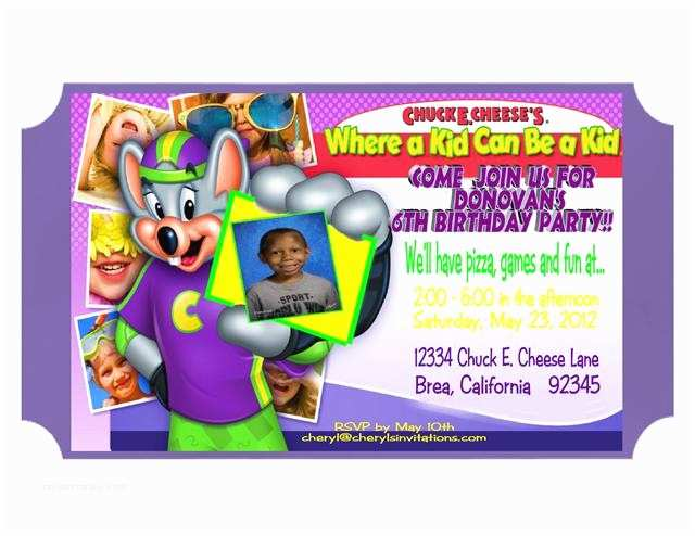 Chuck E Cheese Birthday Invitations Chuck E Cheese Birthday Invitations Template