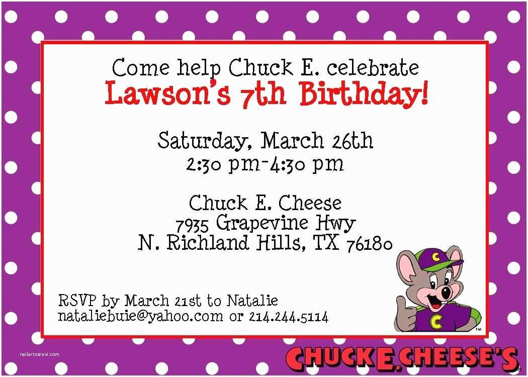 Chuck E Cheese Birthday Invitations Chuck E Cheese Birthday Party Invitations Mickey Mouse