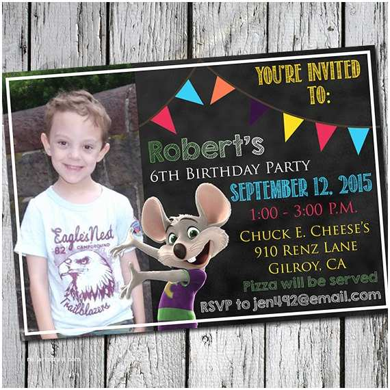 Chuck E Cheese Birthday Invitations Chuck E Cheese S Birthday Party Invitation Printable