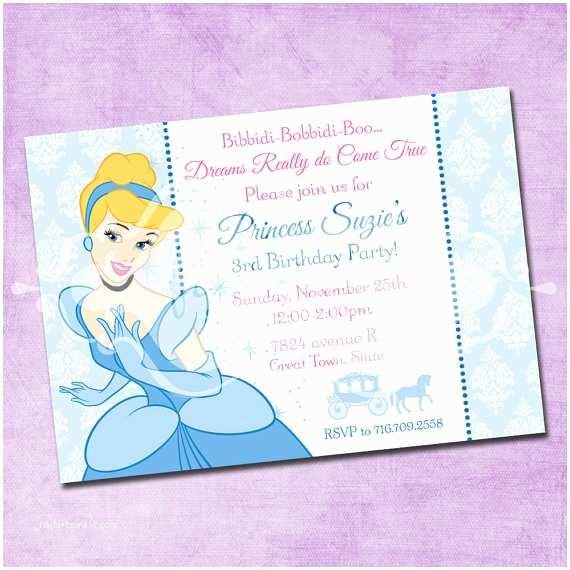 Cinderella Birthday Invitations Cinderella Birthday Invitation by Freshinkstationery On Etsy
