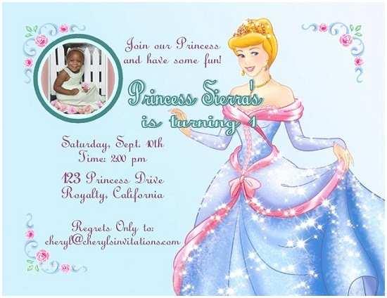 Cinderella Birthday Invitations Cinderella Birthday Invitations Ideas – Bagvania Free