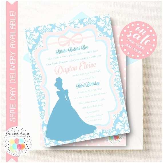 Cinderella Birthday Invitations Cinderella Invitation Cinderella Birthday by Beeanddaisy