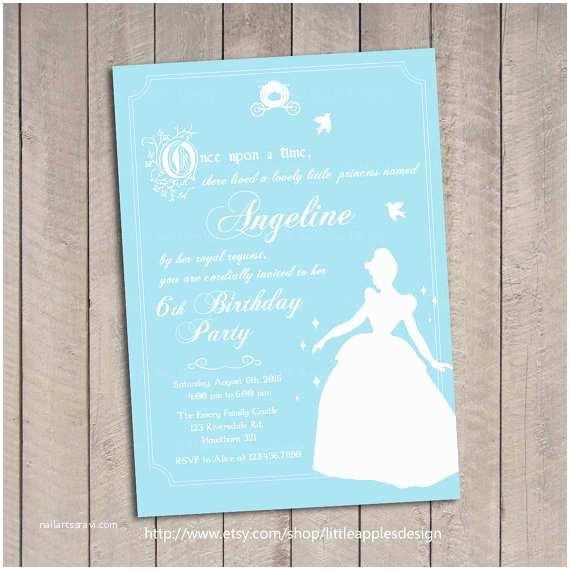 Cinderella Birthday Invitations Cinderella Invitation Cinderella Birthday Invitation