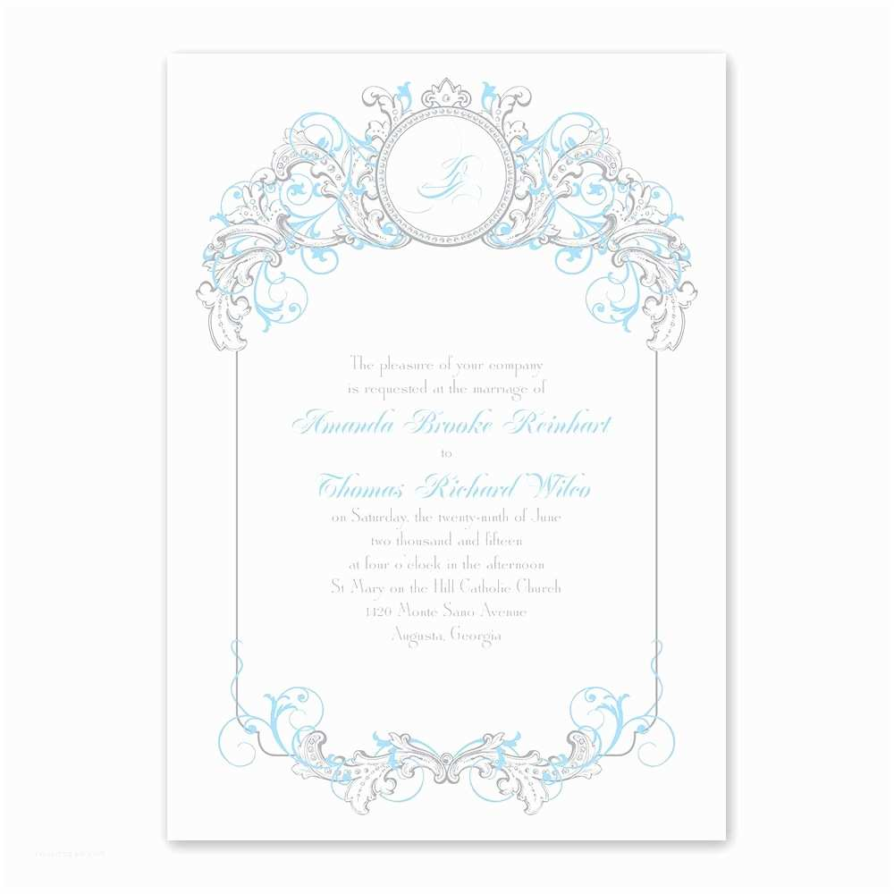 Cinderella Wedding Invitations Disney Fairy Tale Filigree Invitation Cinderella
