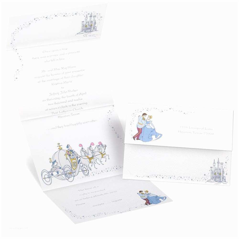 Cinderella Wedding Invitations Disney to the Ball Seal and Send Invitation Cinderella