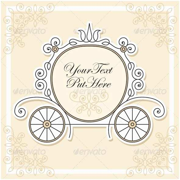 Cinderella Wedding Invitations Vintage Cinderella Invitation Template