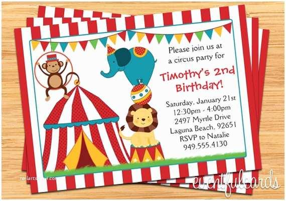 Circus Birthday Invitations Circus Birthday Party Invitation for Kids