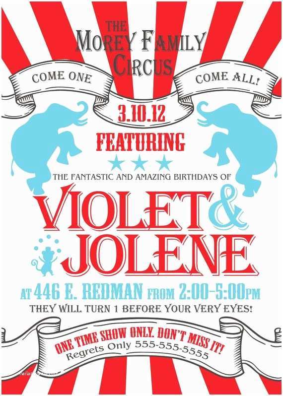 Circus Party Invitations 25 Best Ideas About Circus Party Invitations On Pinterest