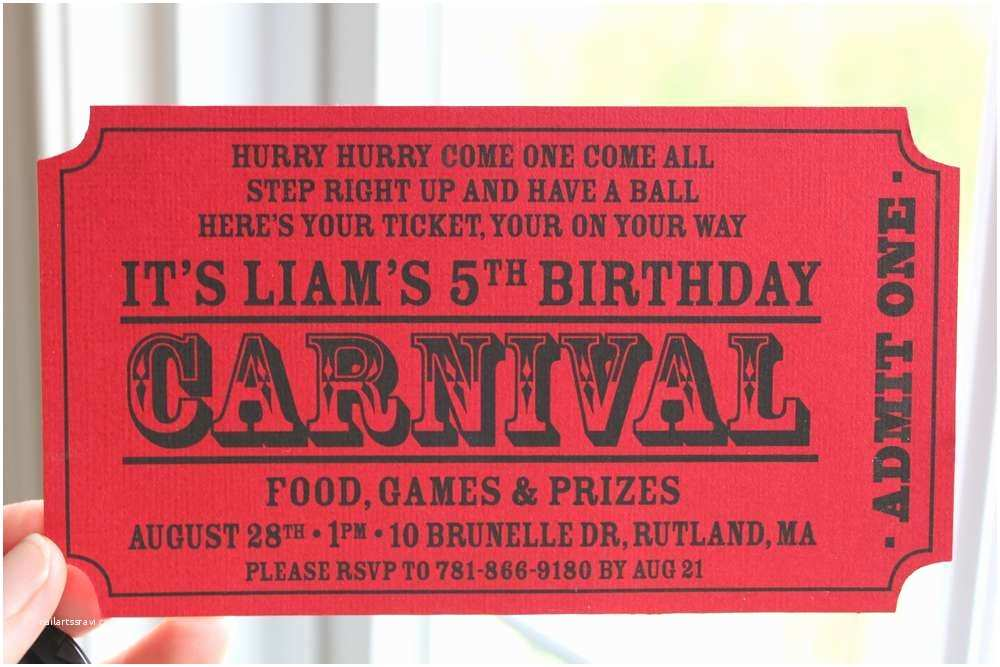 Circus Party Invitations Carnival Birthday Party Ideas
