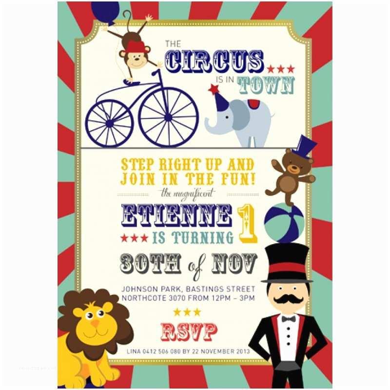 Circus Party Invitations Circus Invitation Boy Circus Invitations Boy Printed In