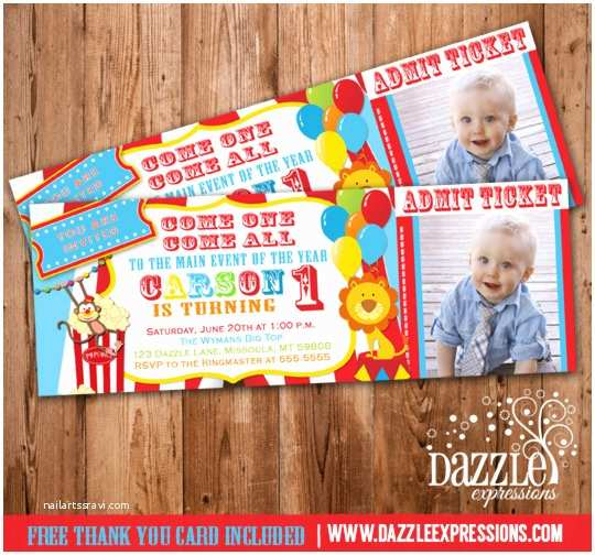 Circus Party Invitations Circus Ticket Birthday Invitation Printable