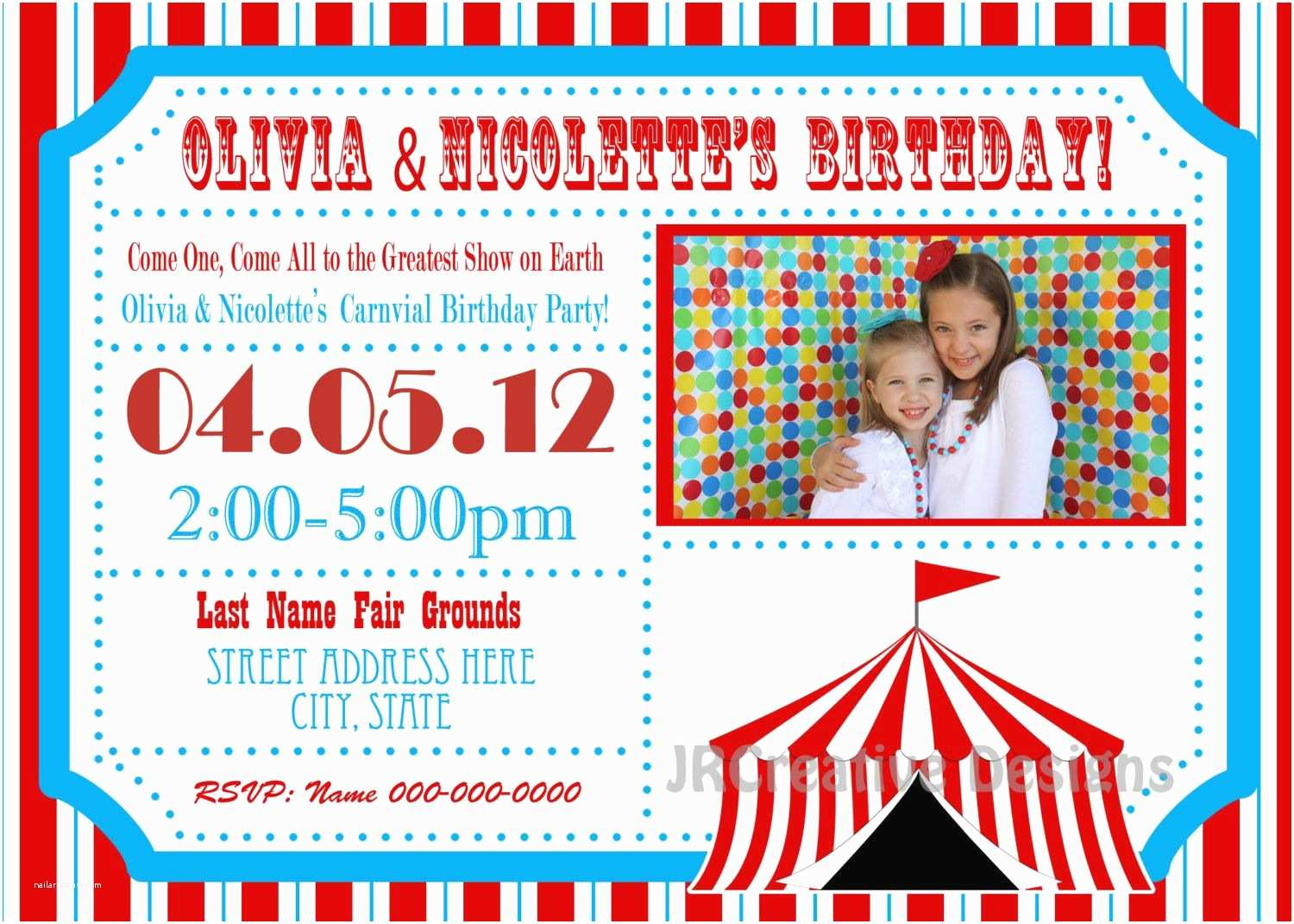 Circus Party Invitations Google Image Result for