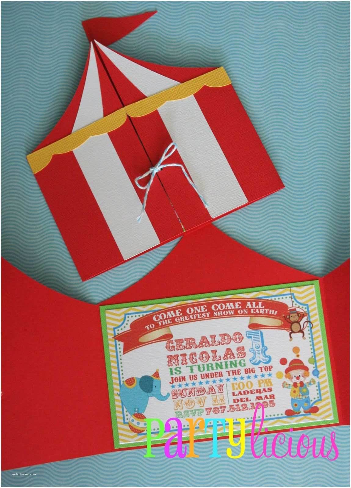 Circus Party Invitations Partylicious events Pr Circus Spectacular Birthday