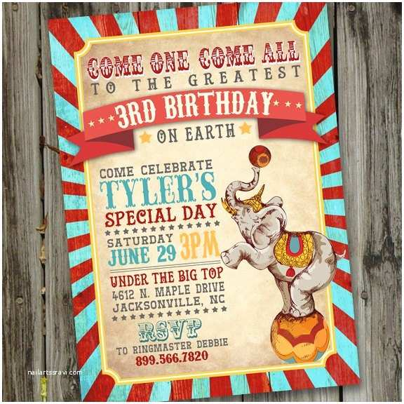 Circus Party Invitations Ultimate List 100 Carnival theme Party Ideas—by A