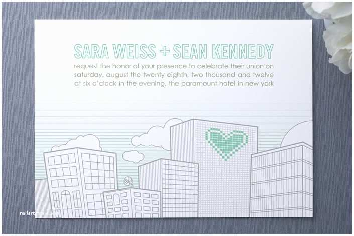 Cityscape Wedding Invitations 10 Spectacularly Cute Wedding Invitations
