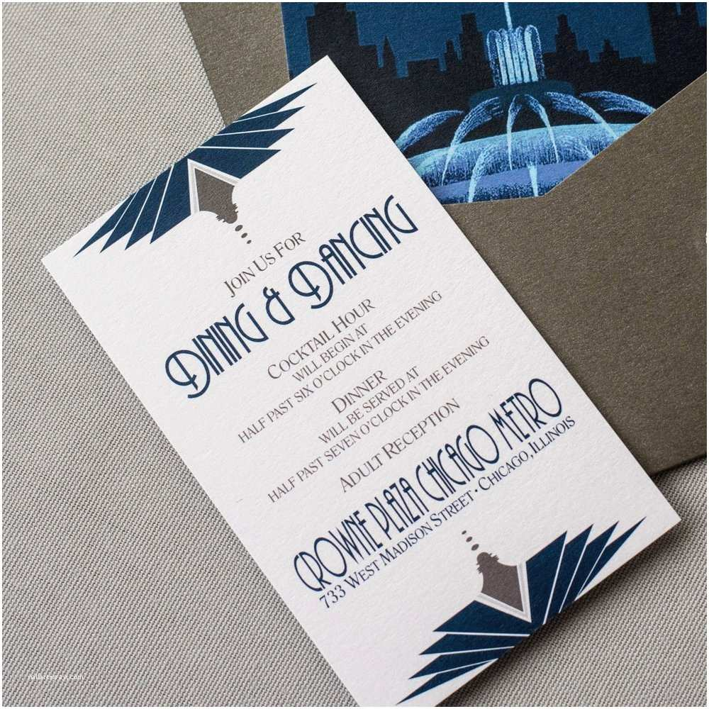 Cityscape Wedding Invitations Chicago Wedding Invitation — ashley Parker Creative
