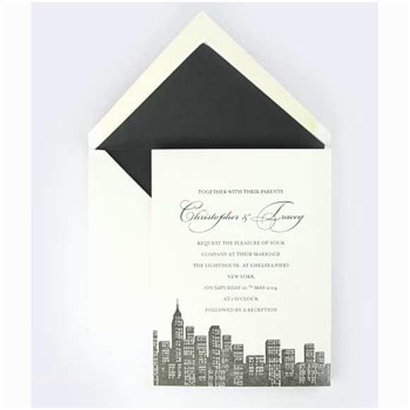 Cityscape Wedding Invitations Cityscape Letterpress Wedding Invitation Shopcade Style