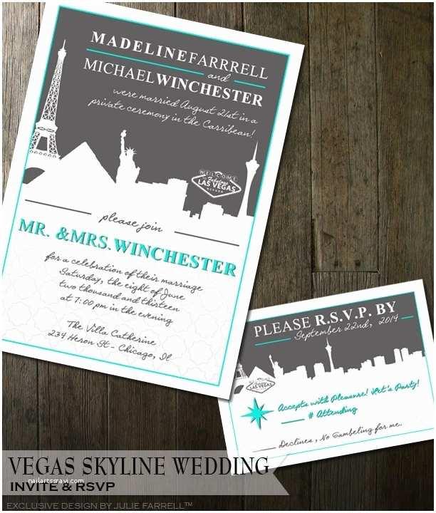 Cityscape Wedding Invitations Vegas Wedding Invitation – Modern Cityscape Destination