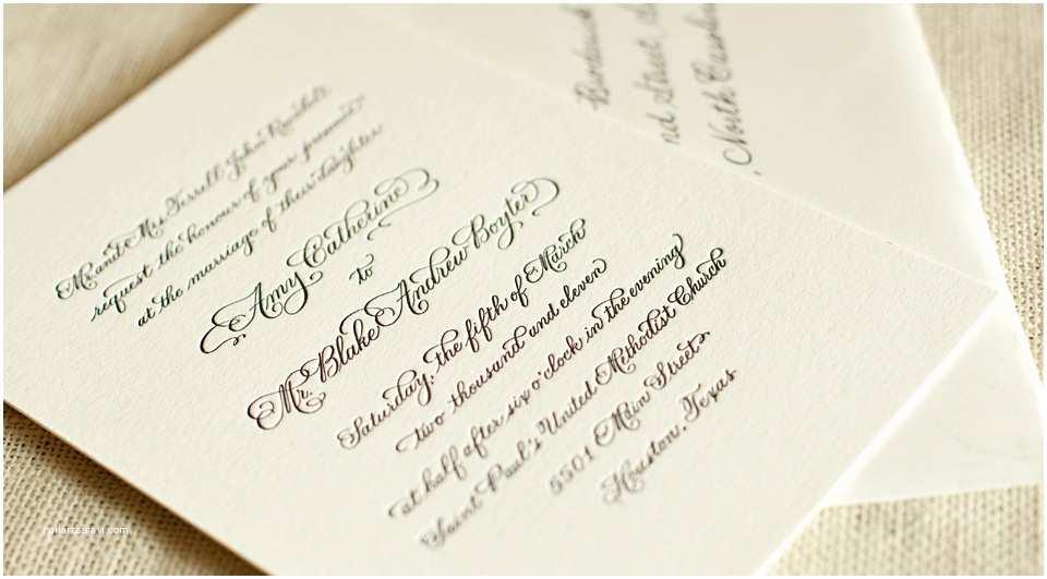 Classic Black and White Wedding Invitations Amy Blake S Classic Black and White Letterpress Wedding