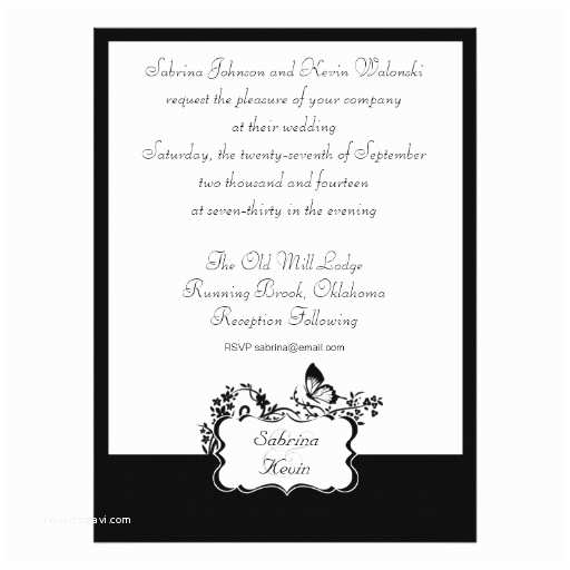 black and white wedding invitations for unique design