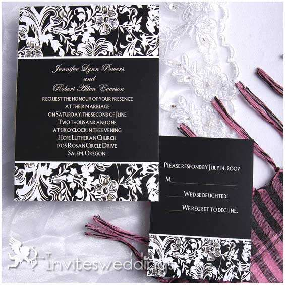 Classic Black and White Wedding Invitations Black Wedding Invitations Classic Black and White Wedding