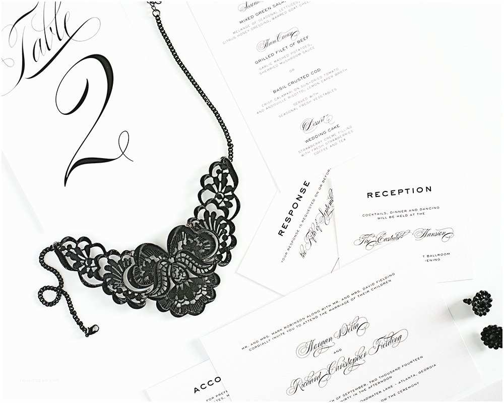Classic Black and White Wedding Invitations Classic and Modern Black Tie Wedding Invitations – Wedding